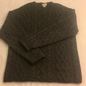 J. Crew Hand Knit 100% Wool Fisherman Sweater